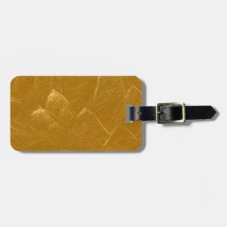 Goldene LOTOS Blumen-Goldblumenblätter Kofferanhänger