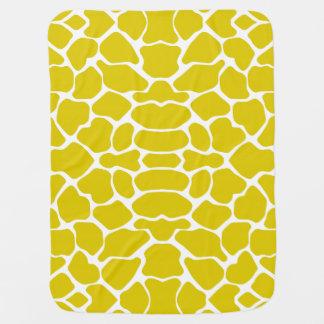 Goldene Mohnblumen-Safari-Giraffe Babydecke