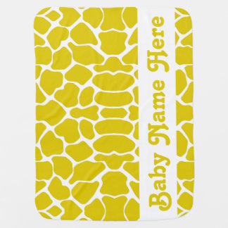 Goldene Mohnblumen-Safari-Giraffe mit Namen Kinderwagendecke