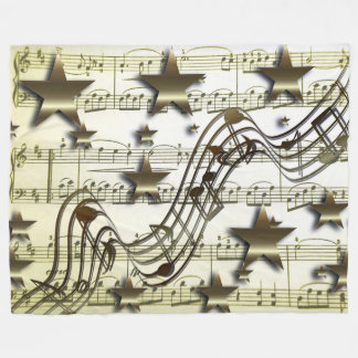Goldene Musik-Fleece-Decke Fleecedecke