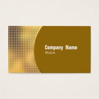 Goldene Paillette Visitenkarte