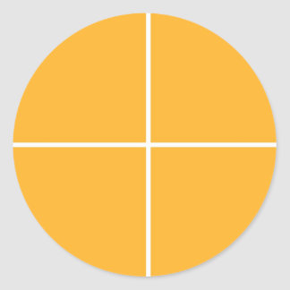 GOLDENE Quadrate: Blanc GRUSS-SEGNUNG Billig Runder Aufkleber