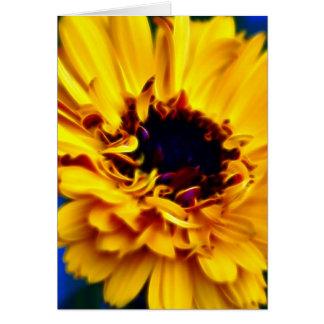 Goldene Ringelblume und Bedeutung Grußkarte