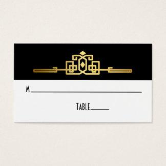 Goldene Romance Kunst-Deko-Platzkarte Visitenkarten