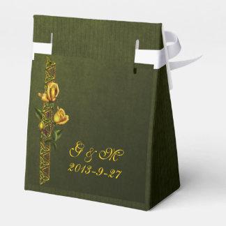 Goldene Rosen-Hochzeits-Reihe Geschenkschachteln