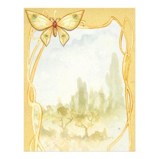 Goldene Schmetterlings-Bann-Seite Flyer
