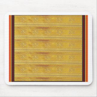 Goldene Silk Gewebe-Schablone DIY addieren Mauspads