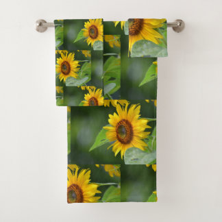 Goldene Sonnenblume Badhandtuch Set