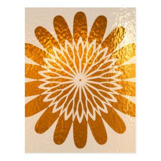 Goldene Sonnenblume KUNST-Dekoration Postkarte