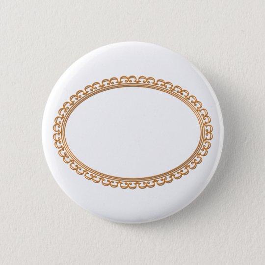 Goldene Spiegel-Feld-Schablone - addieren Sie Ihr Runder Button 5,1 Cm
