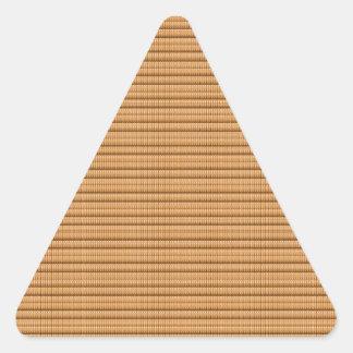 Goldene Streifen-Schablone DIY addieren Dreieckiger Aufkleber