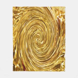 Goldene Strudel-Fleece-Decke Fleecedecke