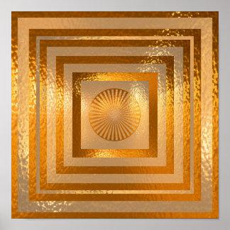 Goldene Sun-Mandala - mit freundlichen Grüßen Poster