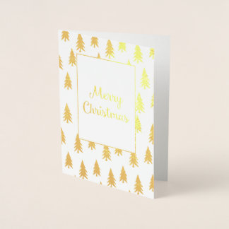 Goldene Tannenbaum-elegante Folien-Weihnachtskarte Folienkarte