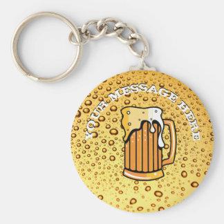 Goldene Tropfen und Bierglas Schlüsselanhänger