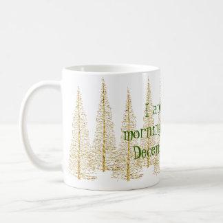 Goldene Weihnachtsbaum-Morgen-Personen-Tasse Kaffeetasse