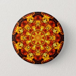 Goldene Wunder-Mandala Runder Button 5,7 Cm