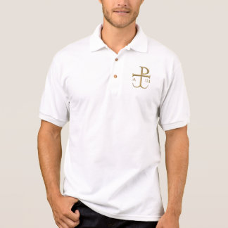 """Goldener """"3-D"""" Chi-Rho mit Anker 2 Poloshirt"""