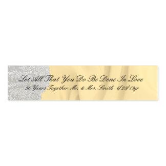 Goldener 50. Zitat-Jahrestag Serviettenband