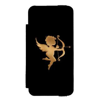 Goldener Amor Incipio Watson™ iPhone 5 Geldbörsen Hülle