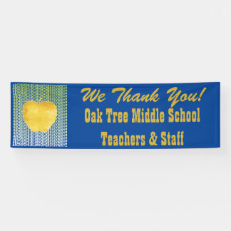 Goldener Apple-Schullehrer Banner
