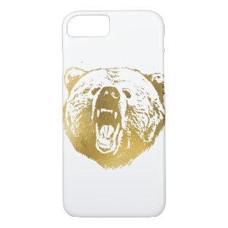 Goldener Bär iPhone Kasten, Weiß und Gold iPhone 8/7 Hülle