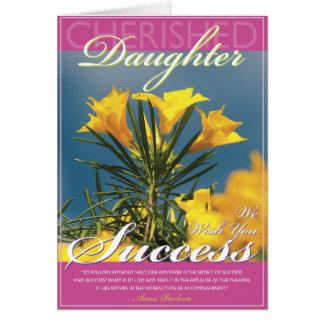 Goldener Blüten-Tochter-Erfolg Karte