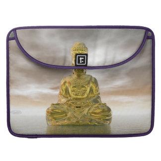 Goldener Buddha - 3D übertragen MacBook Pro Sleeve