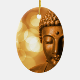 Goldener Buddha Keramik Ornament