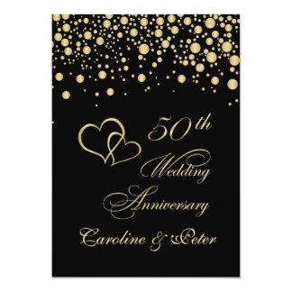 Goldener Confetti 50. Hochzeitstag laden ein 12,7 X 17,8 Cm Einladungskarte