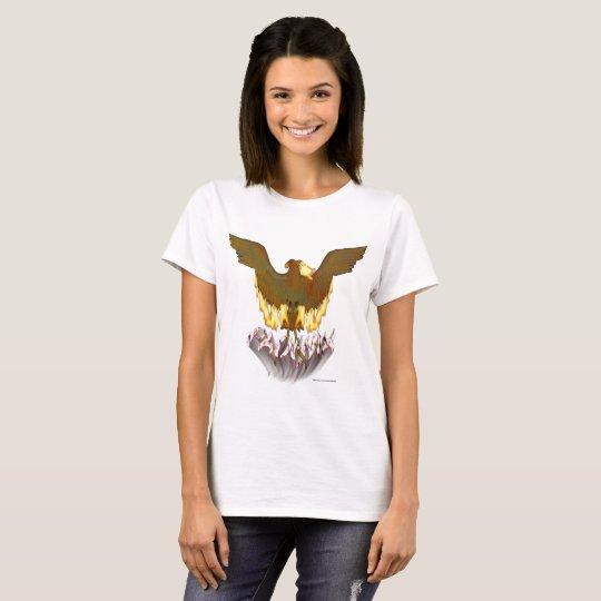 Goldener Damen-T - Shirt Phoenix