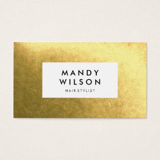 Goldener Glanz-stilvolle Visitenkarten