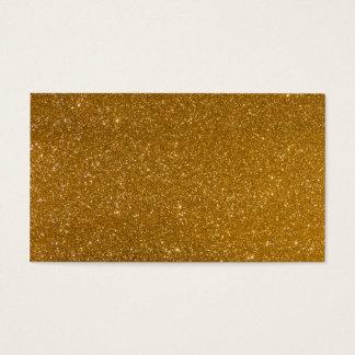 Goldener Glitter Visitenkarte