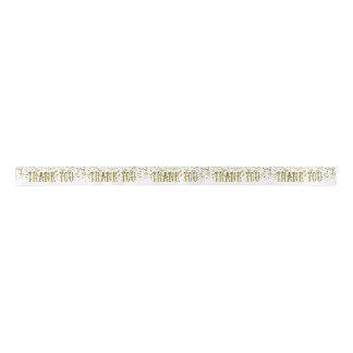 Goldener GlitterSequin danken Ihnen Band Satinband