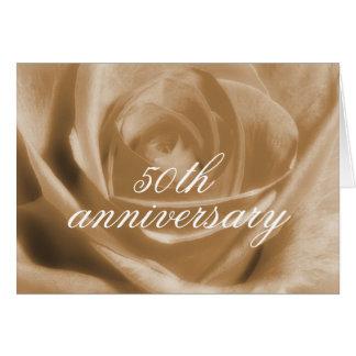 Goldener Jahrestag der Rose 50. Grußkarte