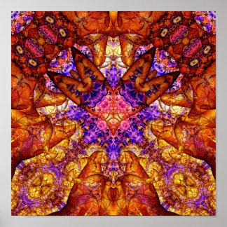 Goldener Kunst-Druck des Zugangs-Experiment-19 (12 Poster