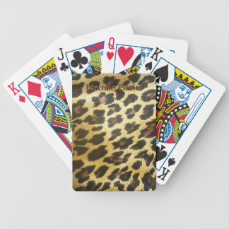Goldener Leopard-Pelz-Spielkarten Bicycle Spielkarten