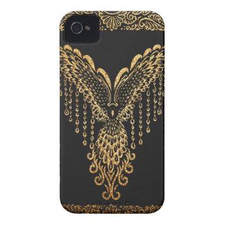 Goldener Rabe Case-Mate iPhone 4 Hüllen