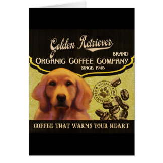 Goldener Retriever-Marke - Organic Coffee Company Karte
