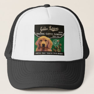Goldener Retriever-Marke - Organic Coffee Company Truckerkappe