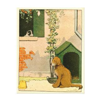 Goldener Retriever-und Jack-Russell-Terrier Leinwanddruck