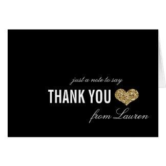 Goldener Schein-Bonbon 16 danken Ihnen zu Mitteilungskarte