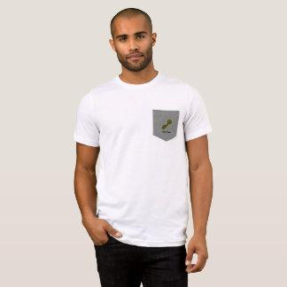 Goldener Schlüssel in der Tasche, adrette T-Shirt