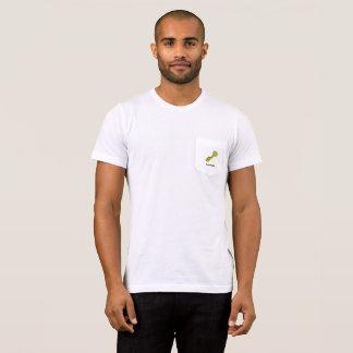 Goldener SchlüsselPreppy Penguin-weißer Taschen-T T-Shirt