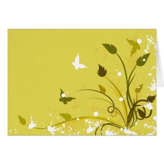 Goldener Schmutz-Schmetterling Mitteilungskarte