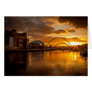 Goldener Sonnenuntergang auf der Tyne Karte