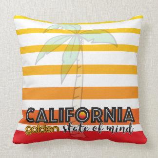 Goldener Staat Kaliforniens des Verstandes Kissen