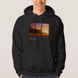 Goldener Strandsonnenuntergang, Hawaii Hoodie