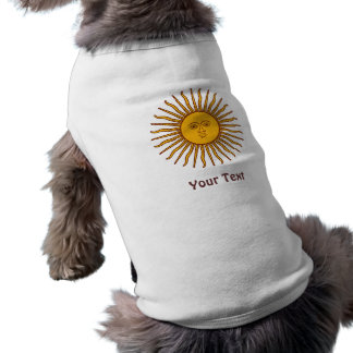 Goldener Sun der Flaggen-Hundejacke Mais Top
