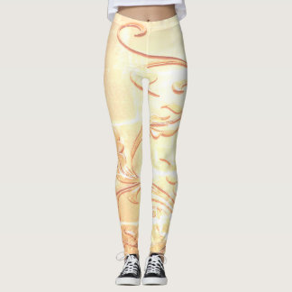 Goldener Tendril Leggings